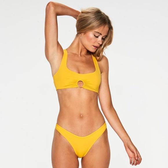 606e078ee9 l*space Swim | Lspace Sunshine Gold Ring Julia Vcut Bikini Top ...